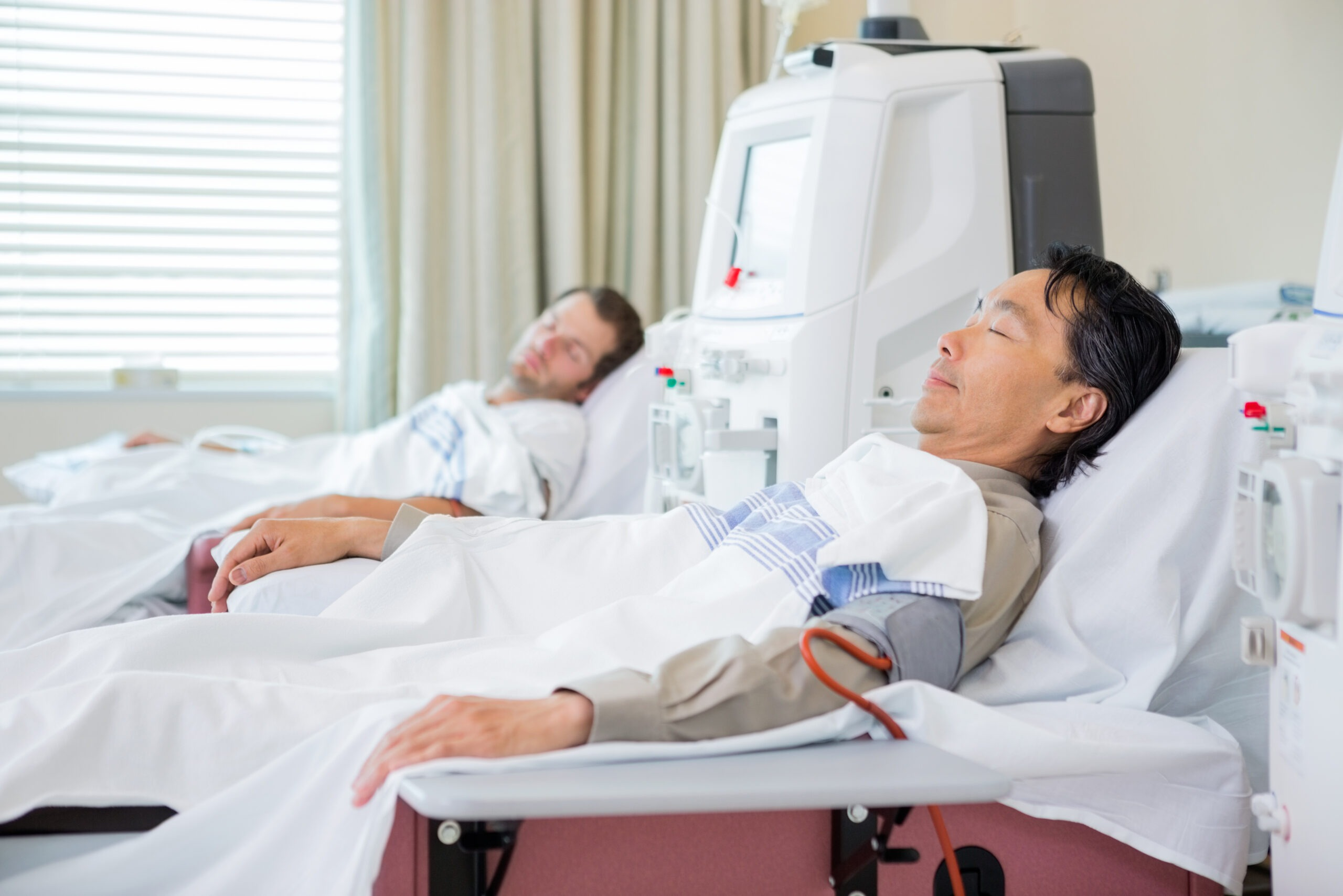 Male patients receiving renal dialysis in a dialysis unit