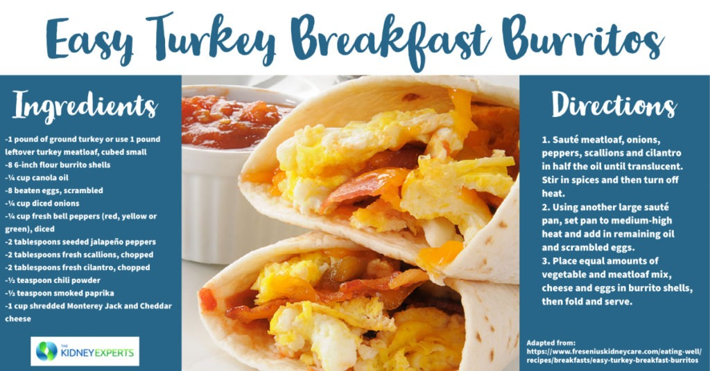 Easy Turkey Breakfast Burritos